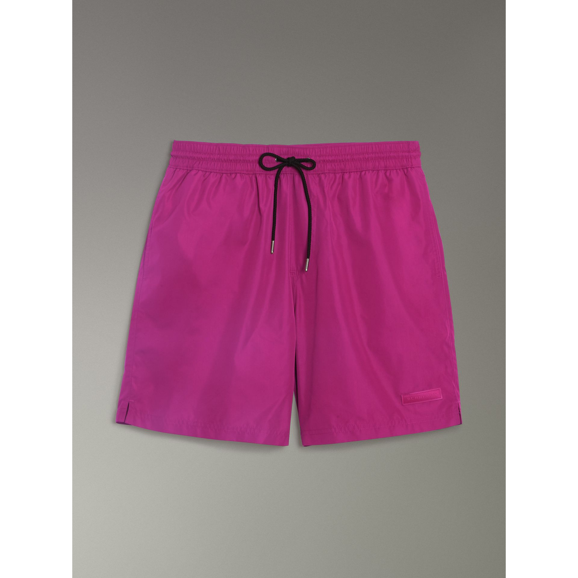Drawcord Swim Shorts in Bright Fuchsia - Men | Burberry - gallery image 3