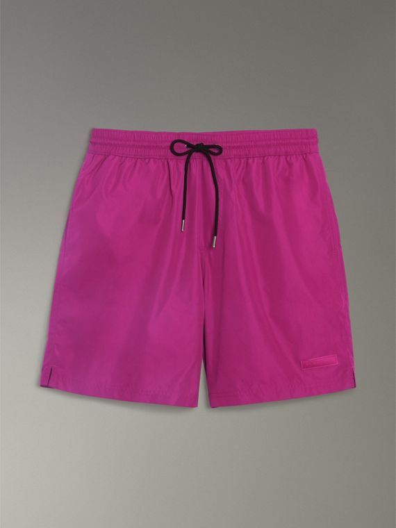 Drawcord Swim Shorts in Bright Fuchsia - Men | Burberry United States - cell image 3