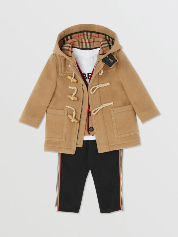 Boiled Wool Duffle Coat in Archive Beige - Children | Burberry Canada - cell image 3
