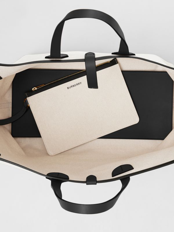 The Medium Soft Cotton Canvas Belt Bag in Black - Women | Burberry Singapore - cell image 3