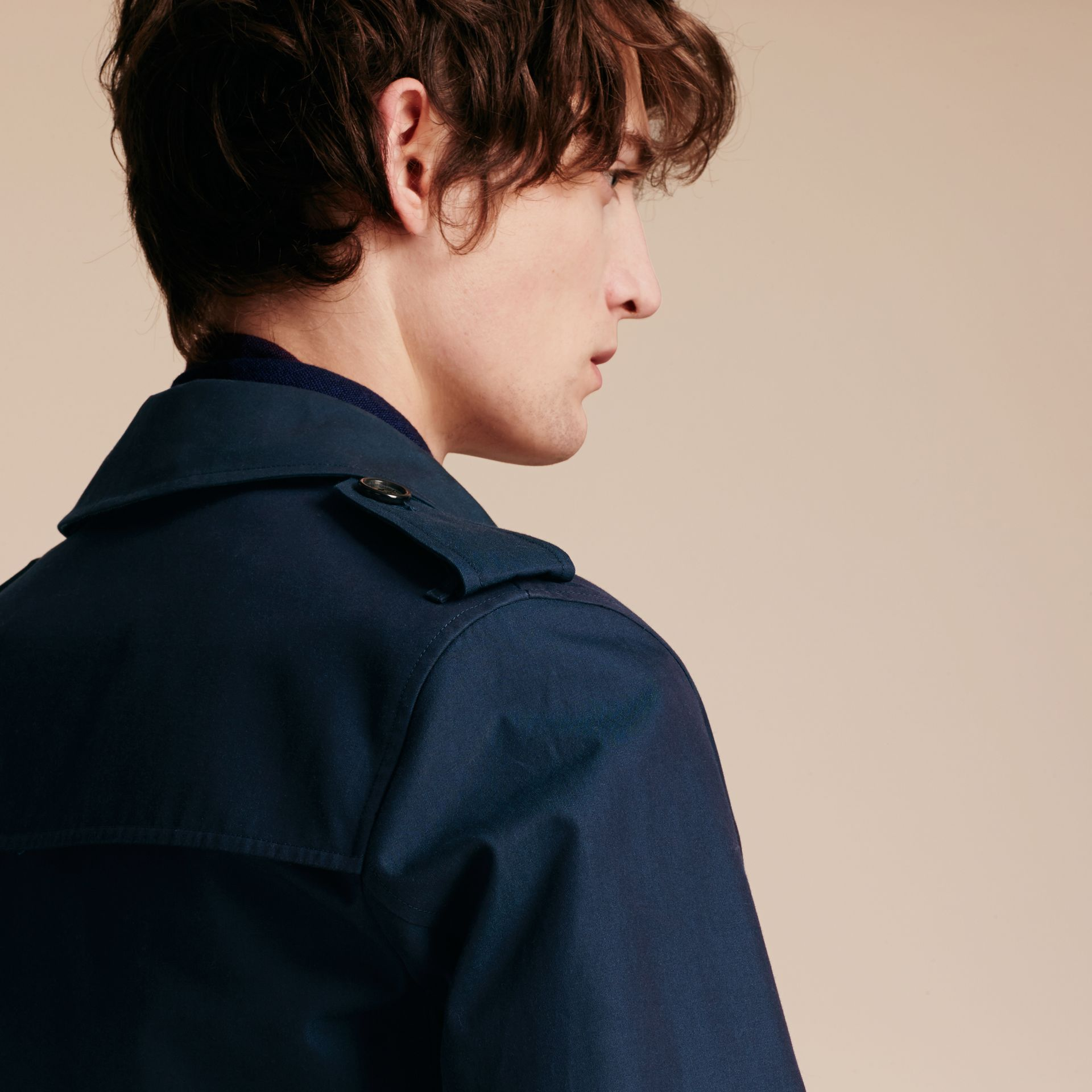 Flint blue Cotton Gabardine Jacket Flint Blue - gallery image 5