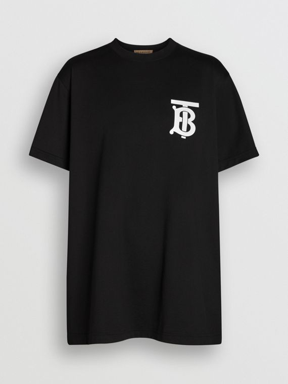 Monogram Motif T-shirt in Black