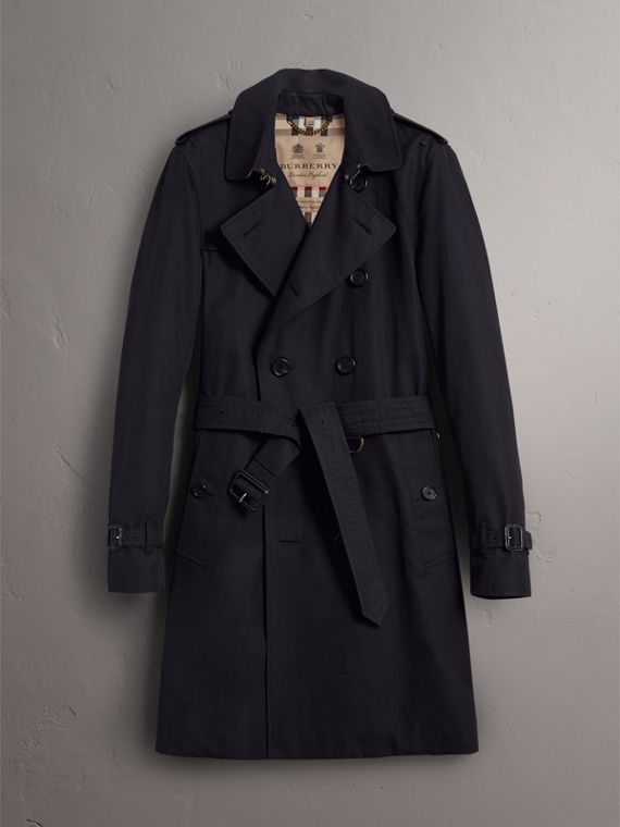 The Sandringham – Long Trench Coat in Navy - Men | Burberry - cell image 3