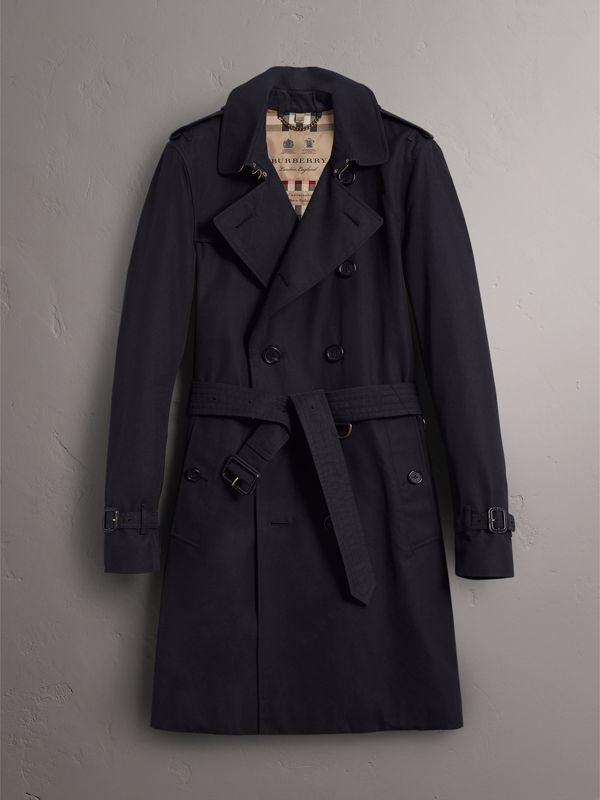 The Sandringham – Long Trench Coat in Navy - Men | Burberry United Kingdom - cell image 3