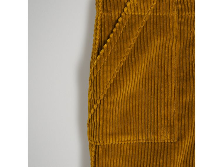 Corduroy Wide-leg Trousers in Ochre - Girl | Burberry - cell image 4