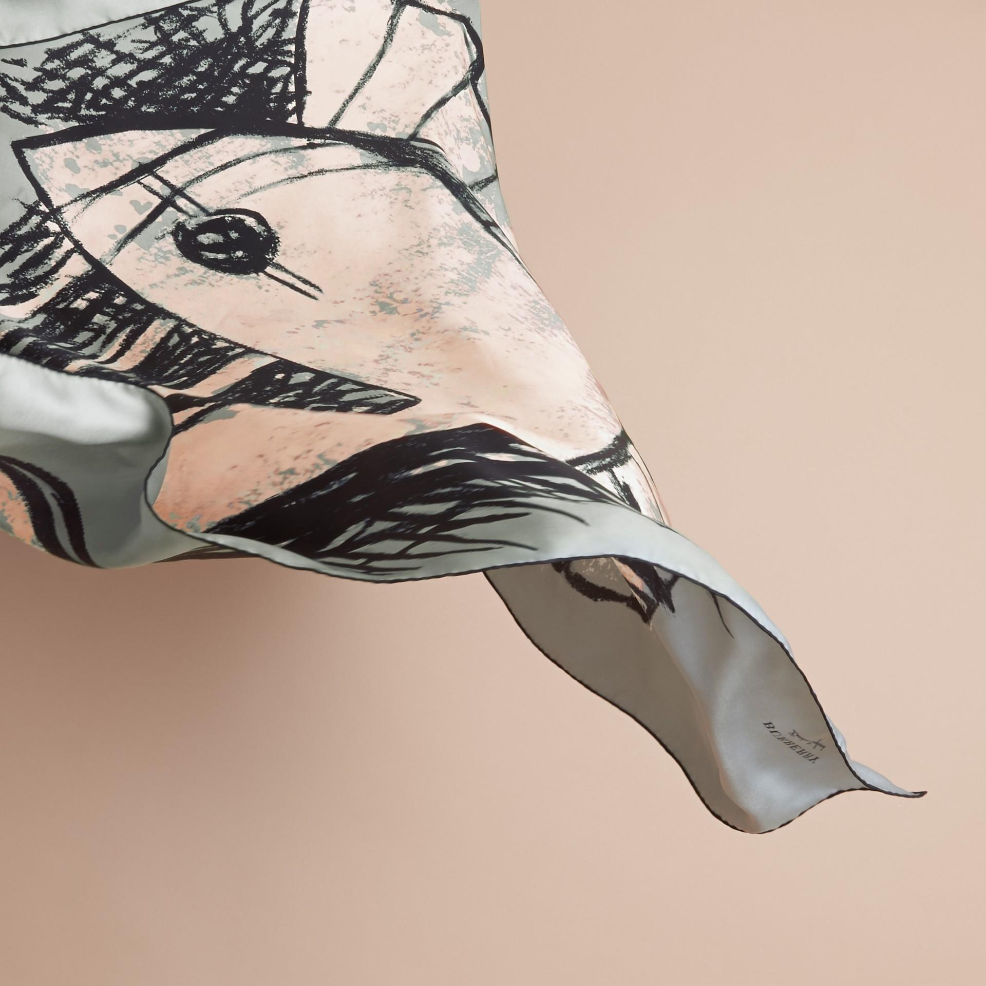 Pallas Helmet Motif Silk Square – Small - gallery image 4