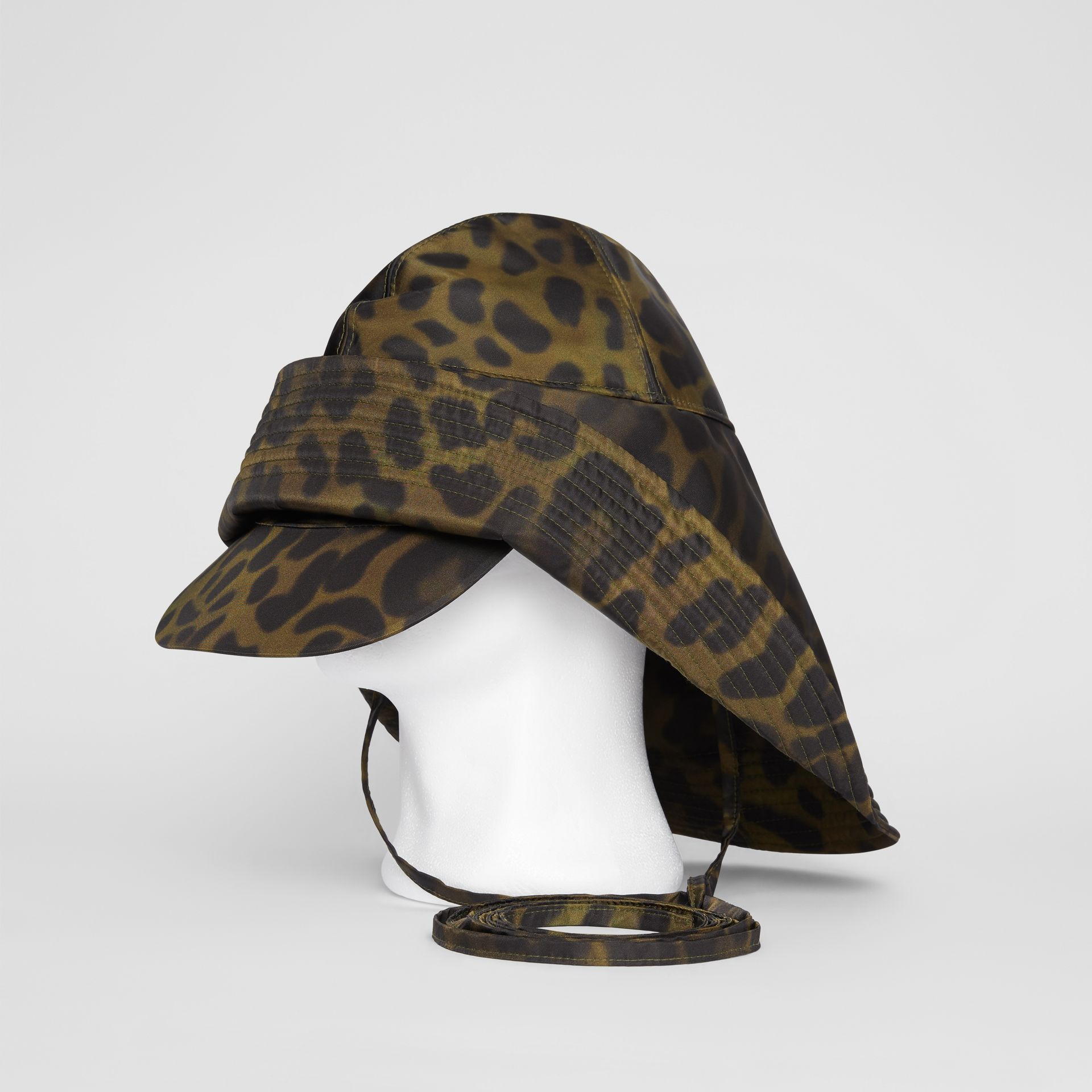 Animal Print Rain Hat in Light Green - Men | Burberry - gallery image 0
