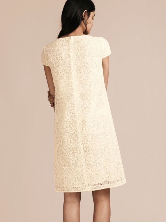 Off white Online Exclusive Italian Lace Shift Dress Off White - cell image 2