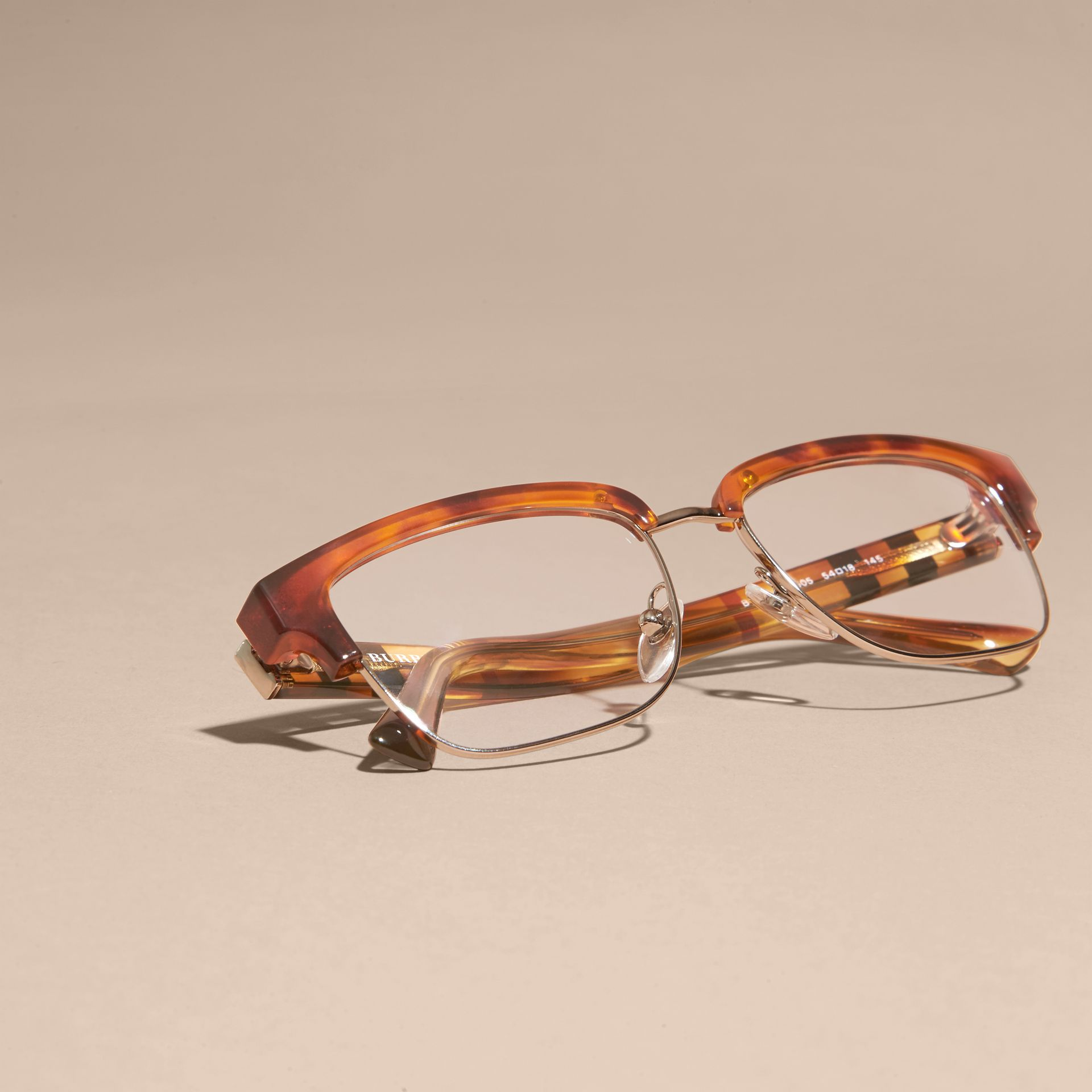 Light russet brown Half-rimmed Oval Optical Frames Light Russet Brown - gallery image 5