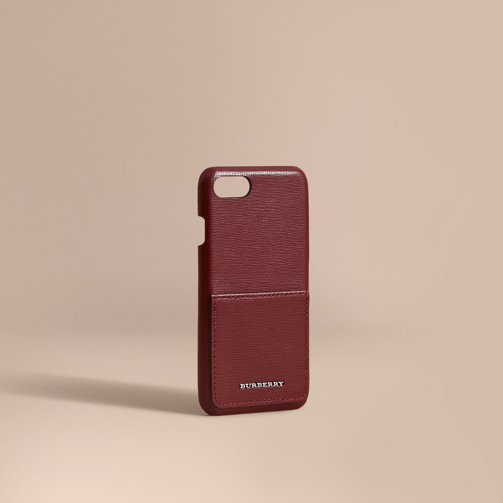 Grainy Leather iPhone 7 Case Burgundy Red - gallery image 1