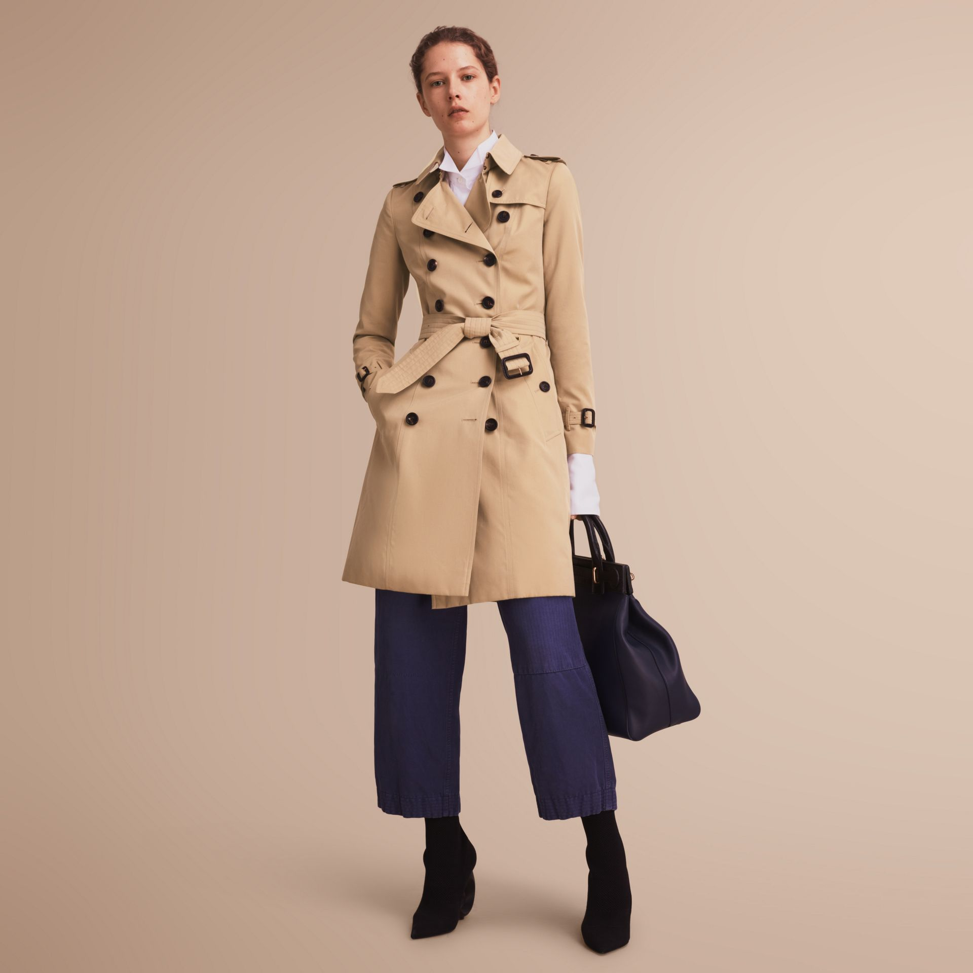 The Chelsea – Long Heritage Trench Coat Honey - gallery image 1