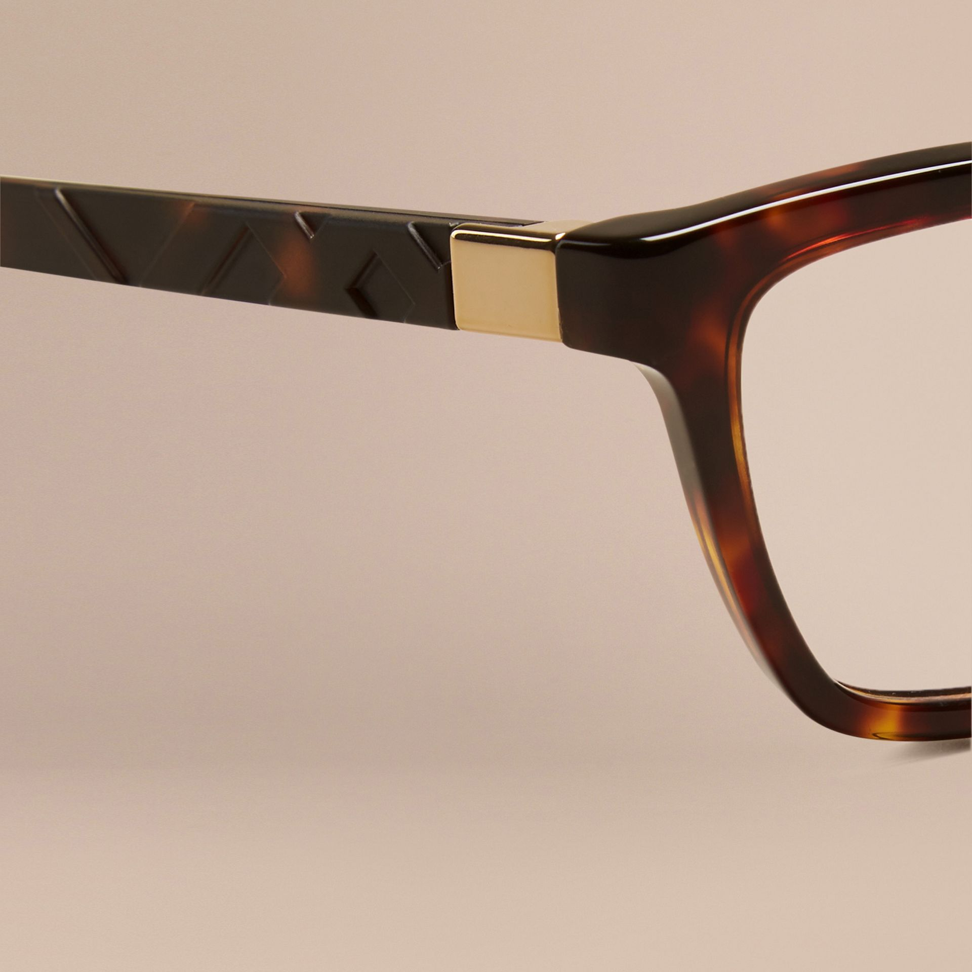 Tortoiseshell Check Detail Cat-eye Optical Frames Tortoiseshell - gallery image 5