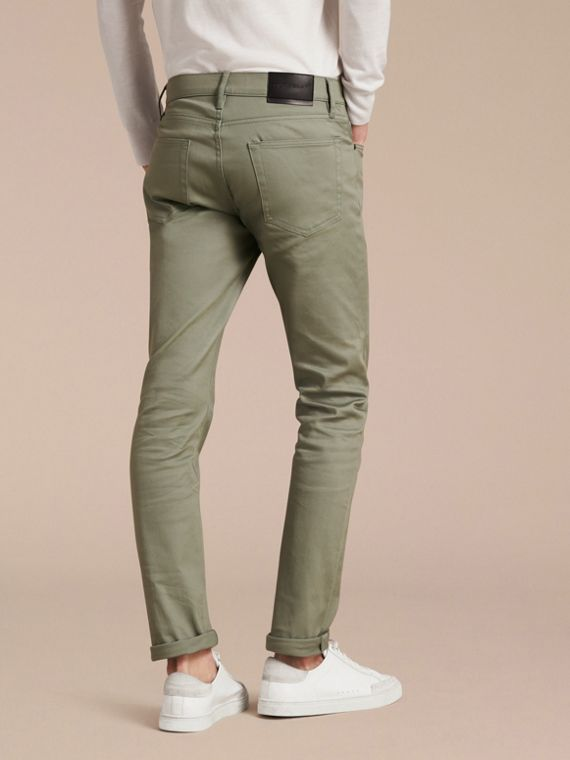 Eucalyptus green Slim Fit Japanese Stretch Denim Jeans Eucalyptus Green - cell image 2