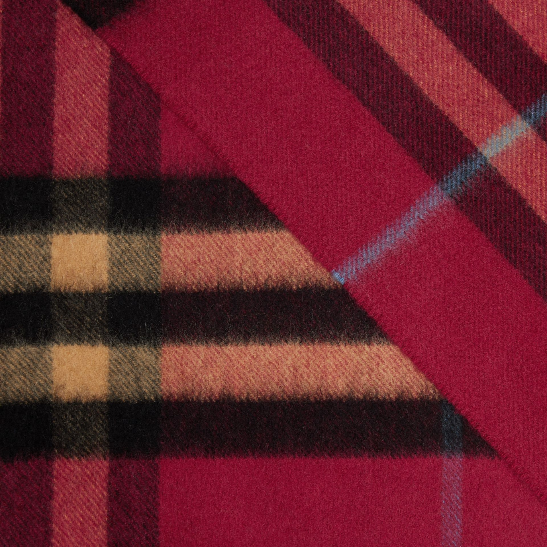 The Classic Check Cashmere Scarf in Damson Pink | Burberry - gallery image 1