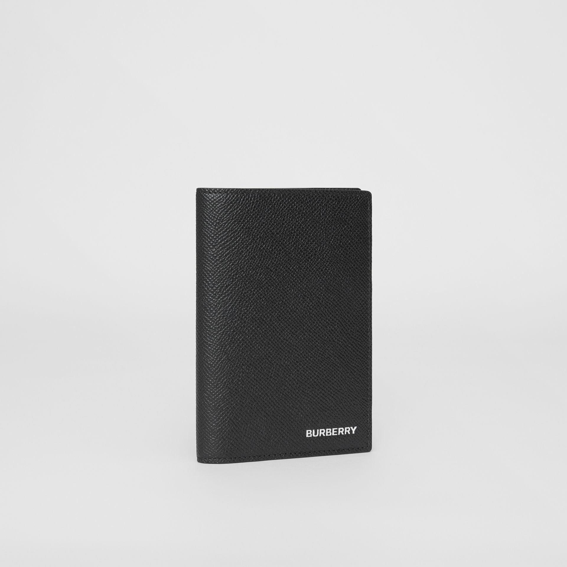 Grainy Leather Passport Holder in Black - Men | Burberry United States - gallery image 3