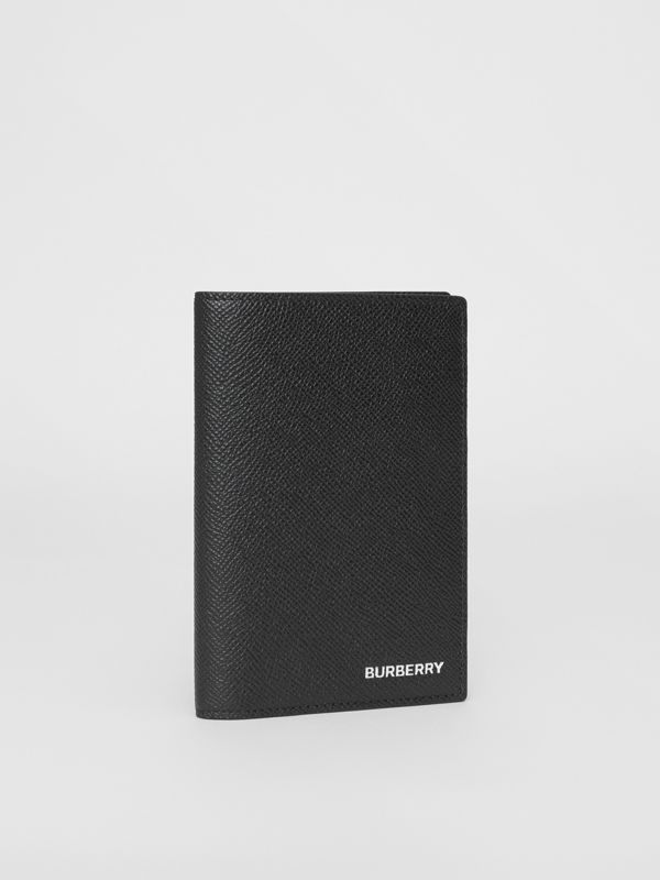 Grainy Leather Passport Holder in Black - Men | Burberry United States - cell image 3