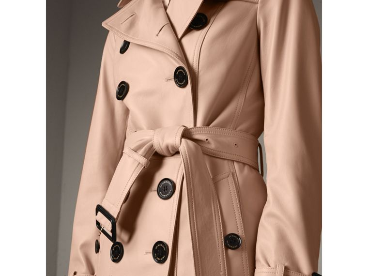Lambskin Trench Coat in Pale Nude - Women | Burberry - cell image 1