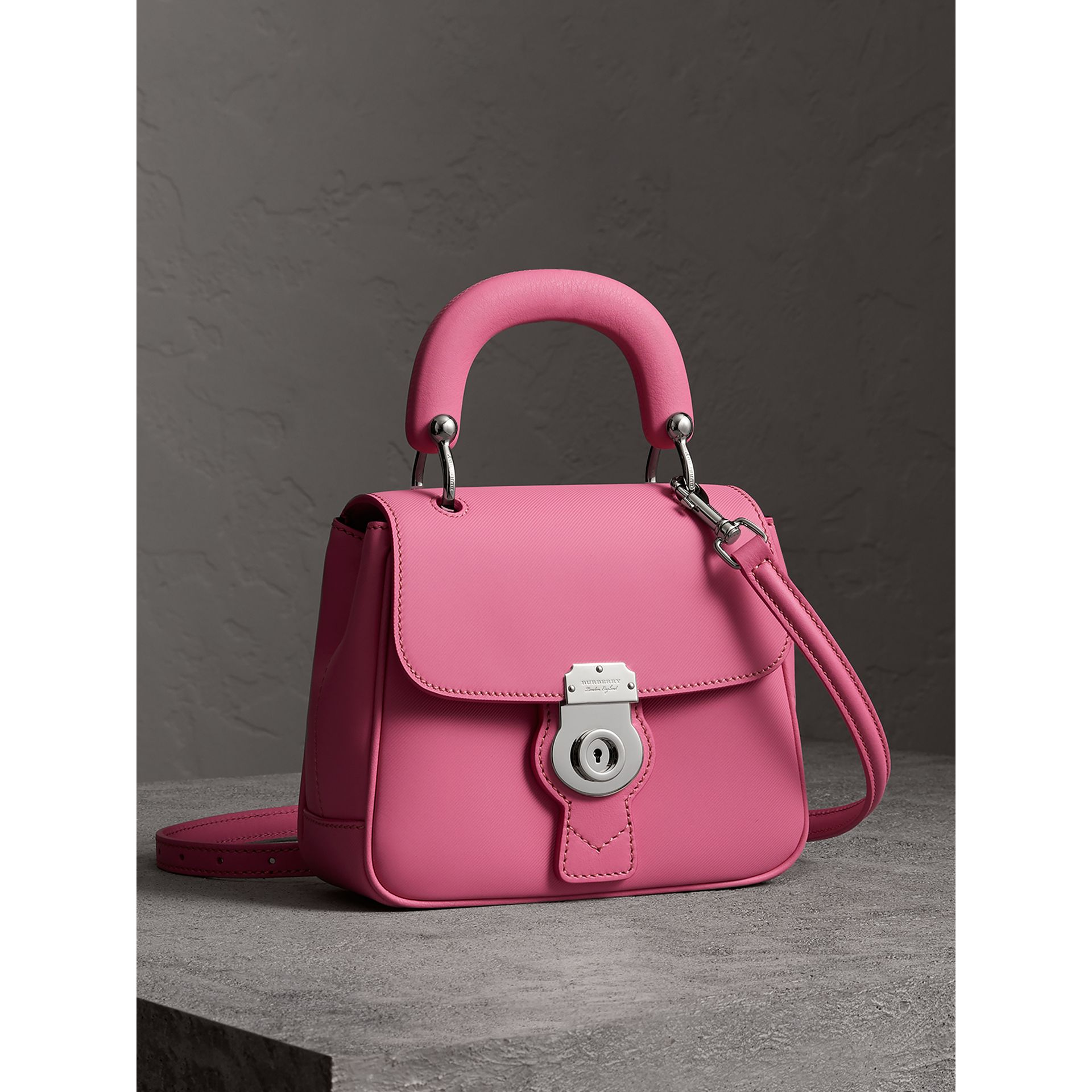 The Small DK88 Top Handle Bag in Rose Pink - Women | Burberry United Kingdom - gallery image 5