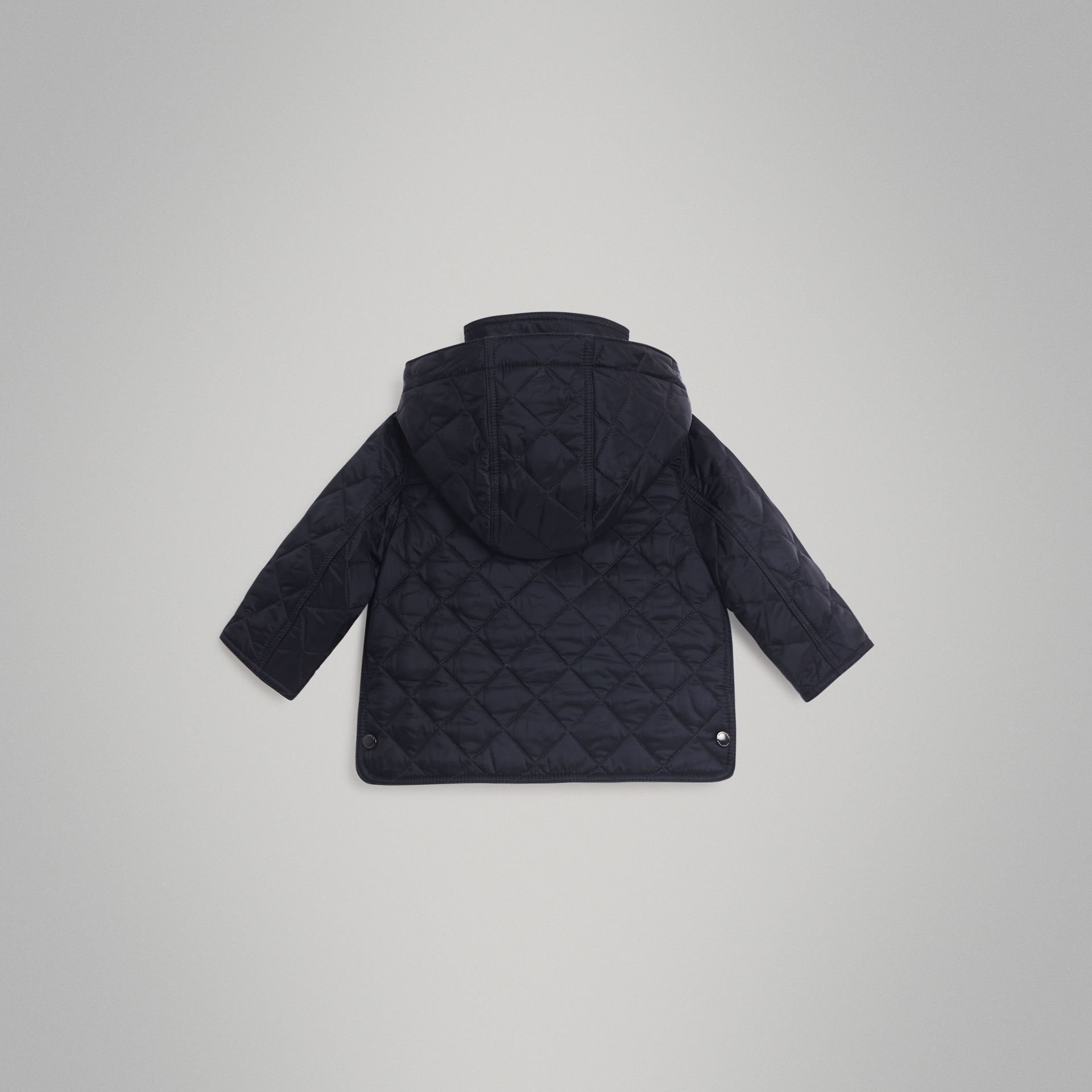 Diamond Quilted Hooded Jacket in Navy - Children | Burberry United Kingdom - gallery image 3