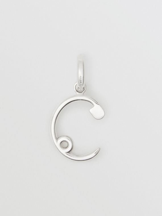Kilt Pin 'C' Alphabet Charm in Palladio