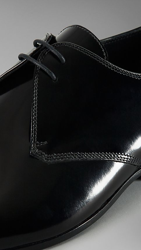 Black Polished Leather Ceremonial Shoes - Image 4