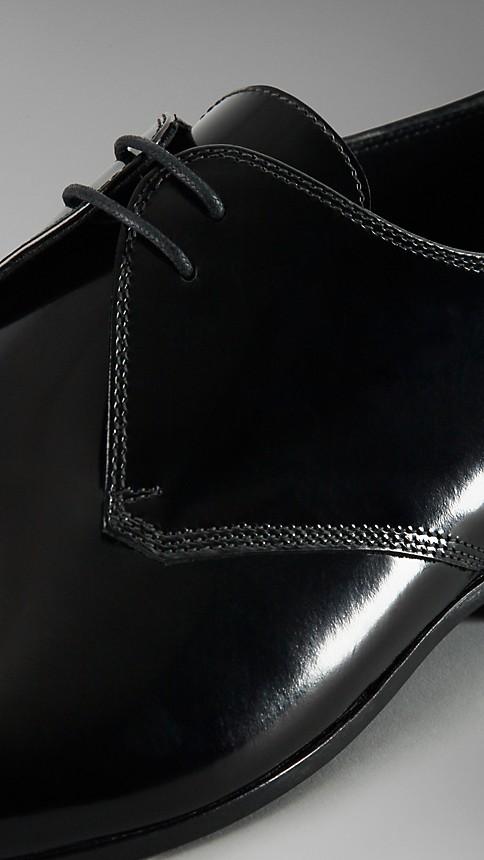 Noir Chaussures de cérémonie en cuir poli - Image 4
