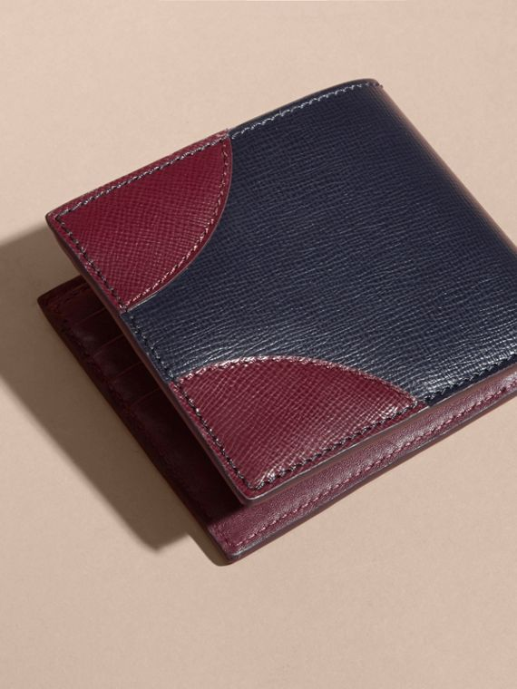 Two-tone London Leather International Bifold Wallet Dark Navy - cell image 2