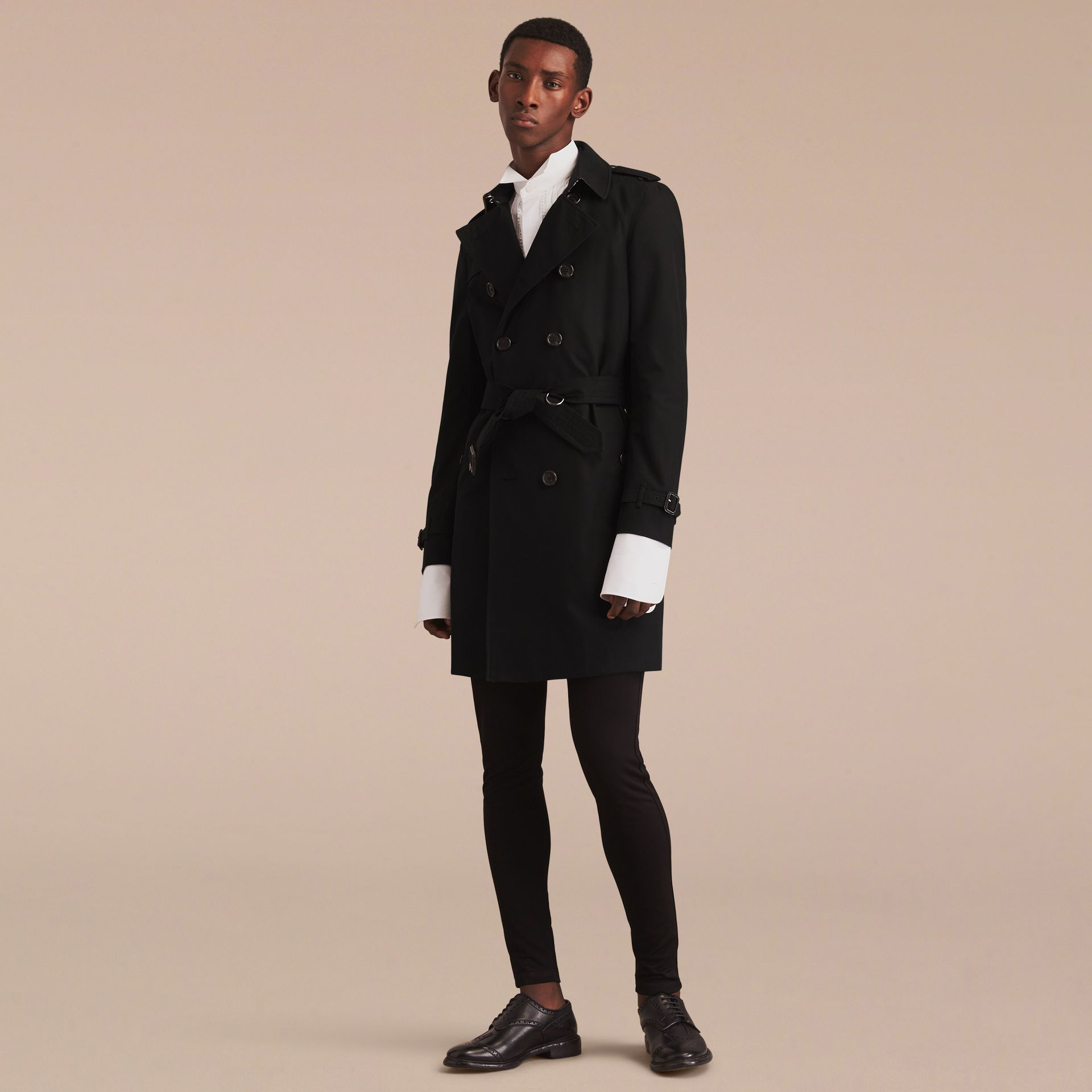 Black The Chelsea – Long Heritage Trench Coat Black - gallery image 9