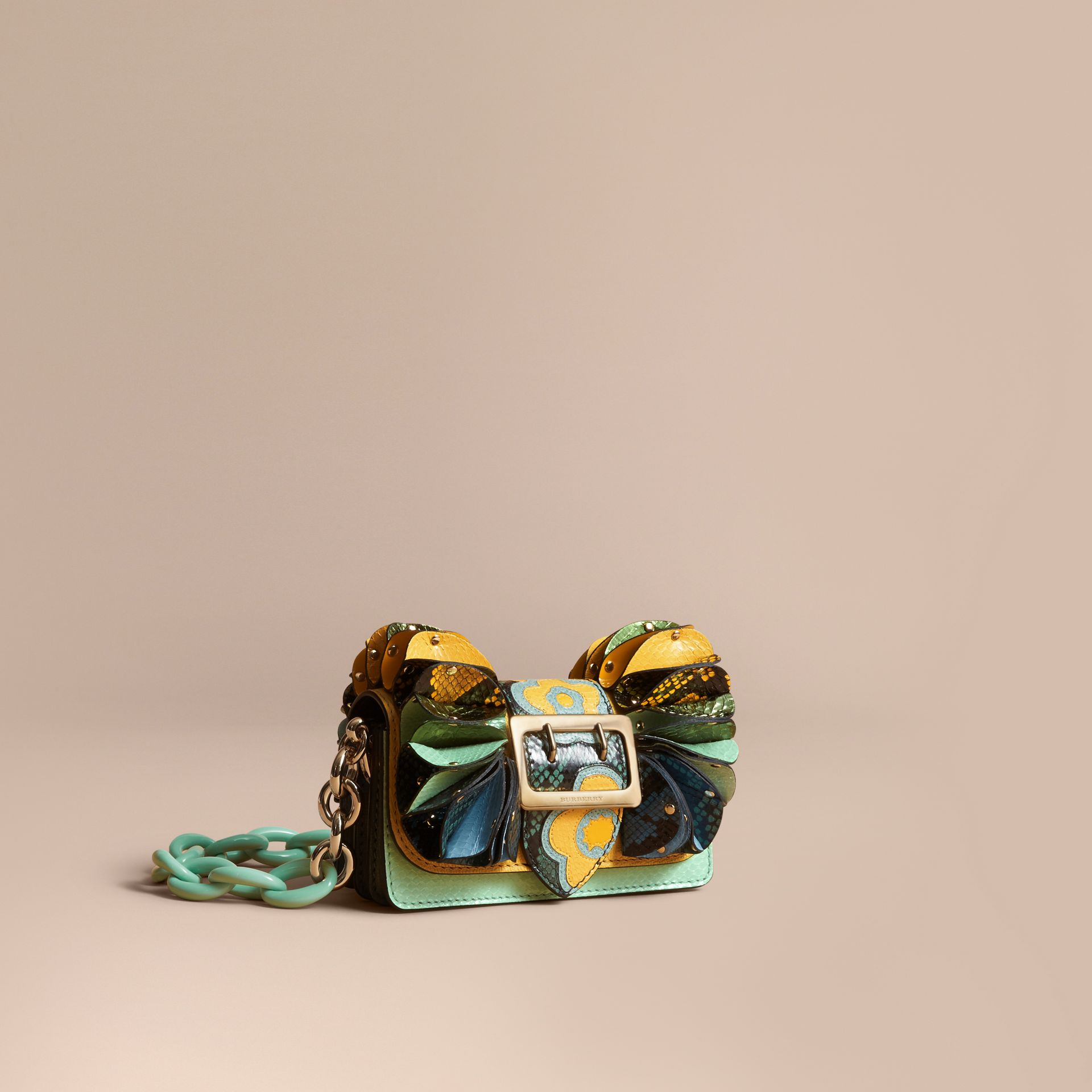 The Ruffle Buckle Bag in Snakeskin and Calf Leather - gallery image 1