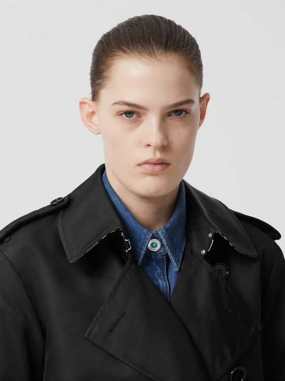 Nylon Twill Trench Coat in Black - Women | Burberry Australia - cell image 1