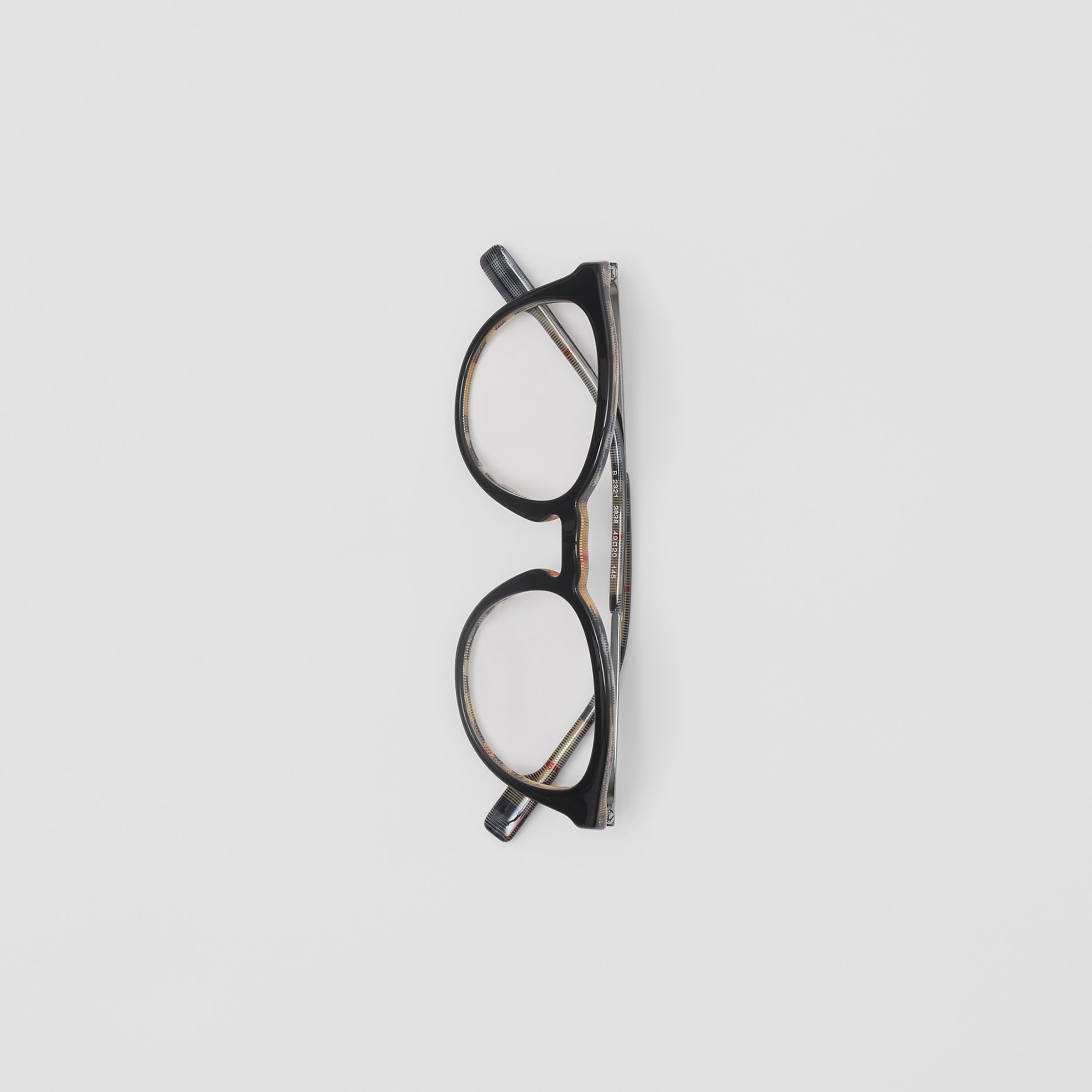 Round Optical Frames in Black/beige - Men | Burberry - 4