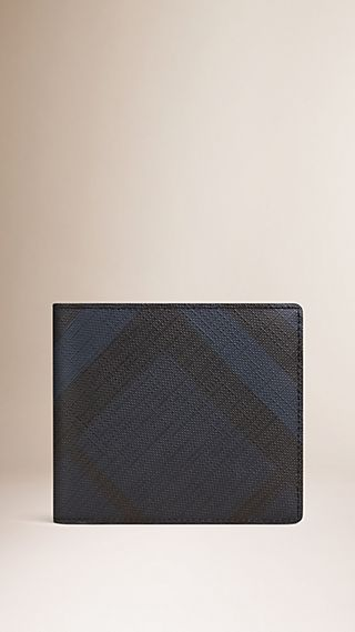Faltbrieftasche in Smoked Check