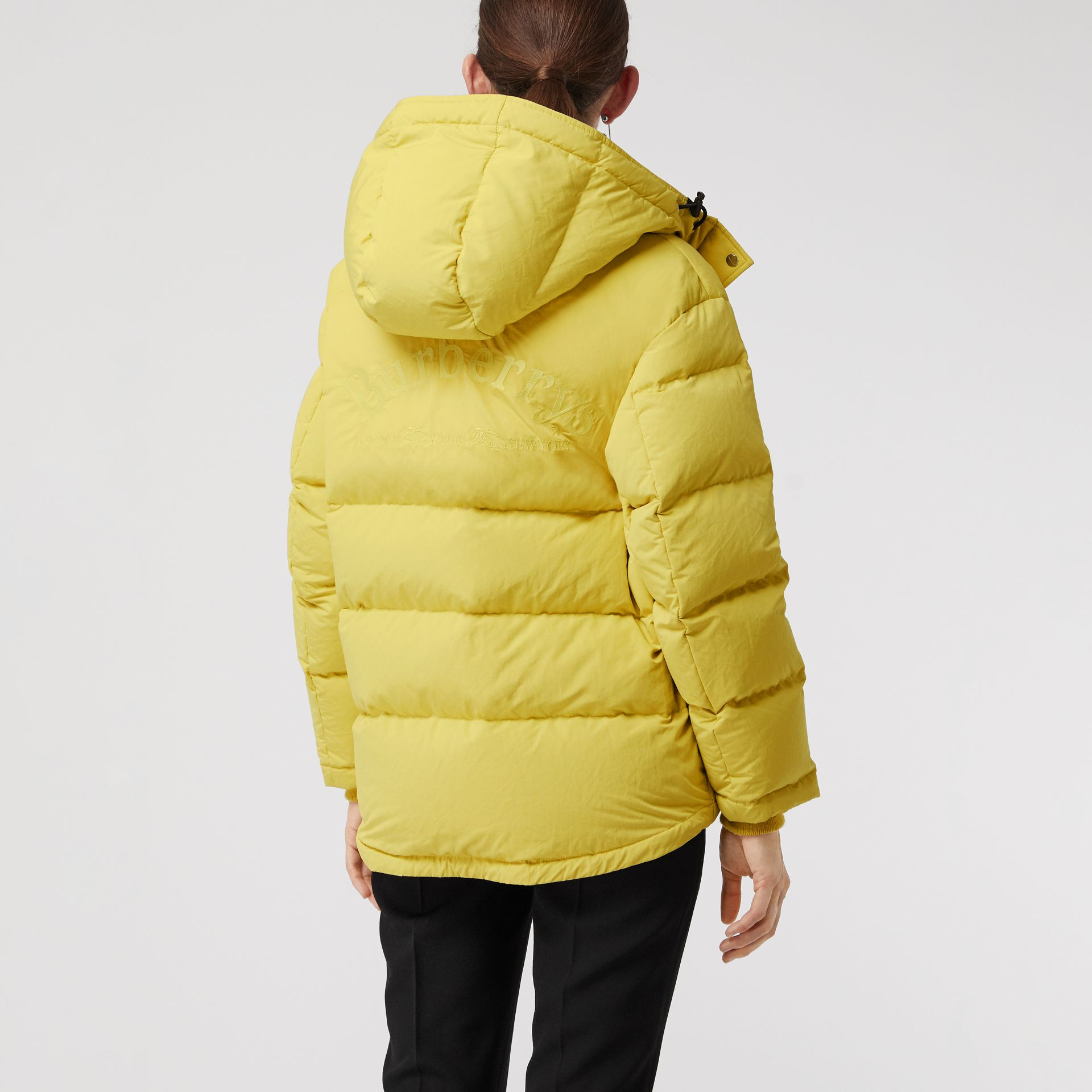 Archive Logo Down-filled Hooded Puffer Jacket in Dandelion - Women | Burberry United States - gallery image 2