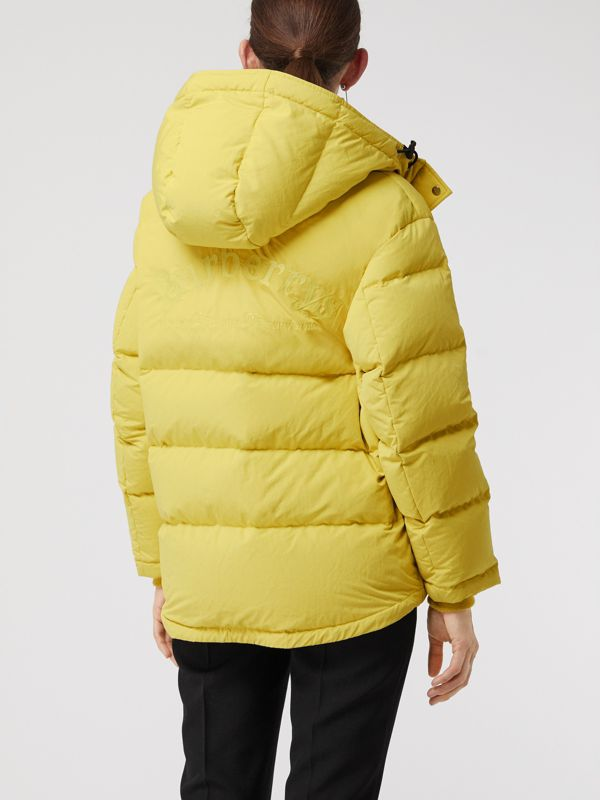 Archive Logo Down-filled Hooded Puffer Jacket in Dandelion - Women | Burberry Australia - cell image 2