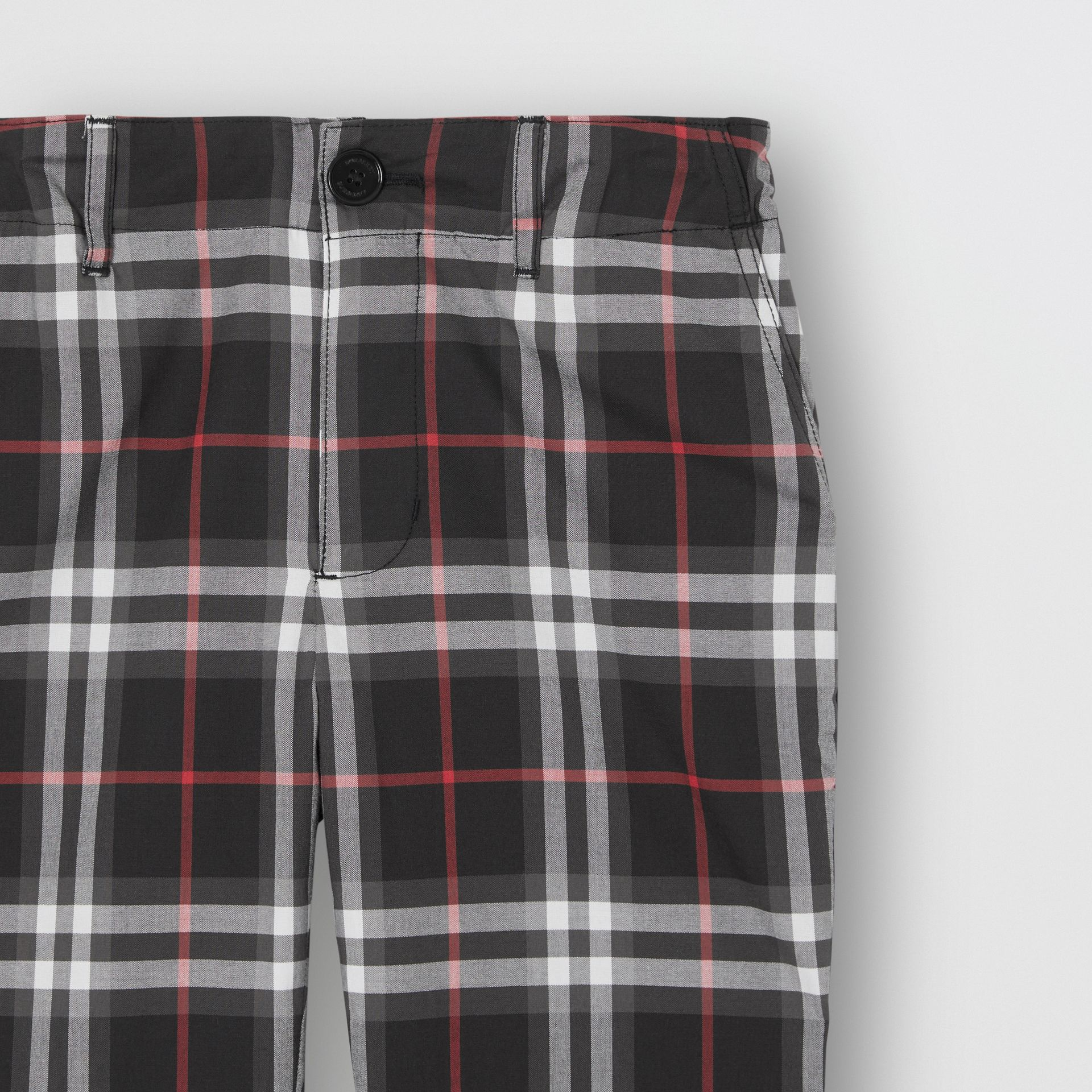 Vintage Check Cotton Tailored Trousers in Black - Boy | Burberry - gallery image 4
