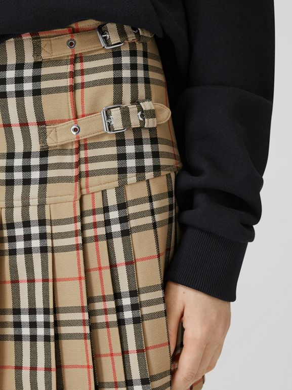 Vintage Check Wool Kilt in Archive Beige - Women | Burberry United Kingdom - cell image 1