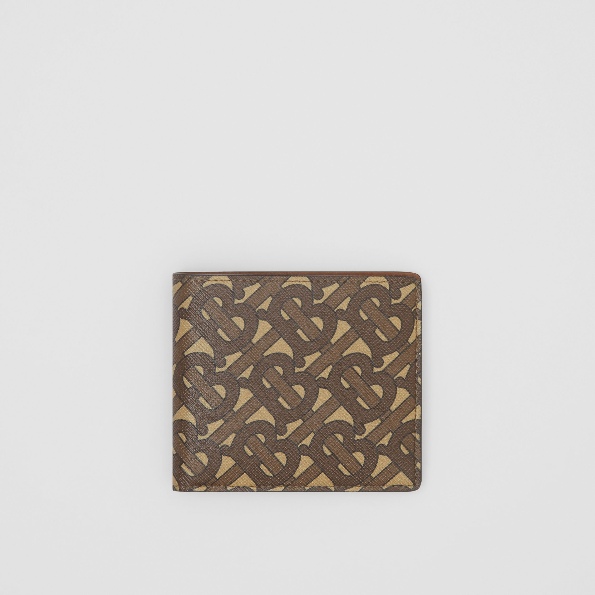 Monogram Print E-canvas International Bifold Wallet in Bridle Brown - Men | Burberry - 1