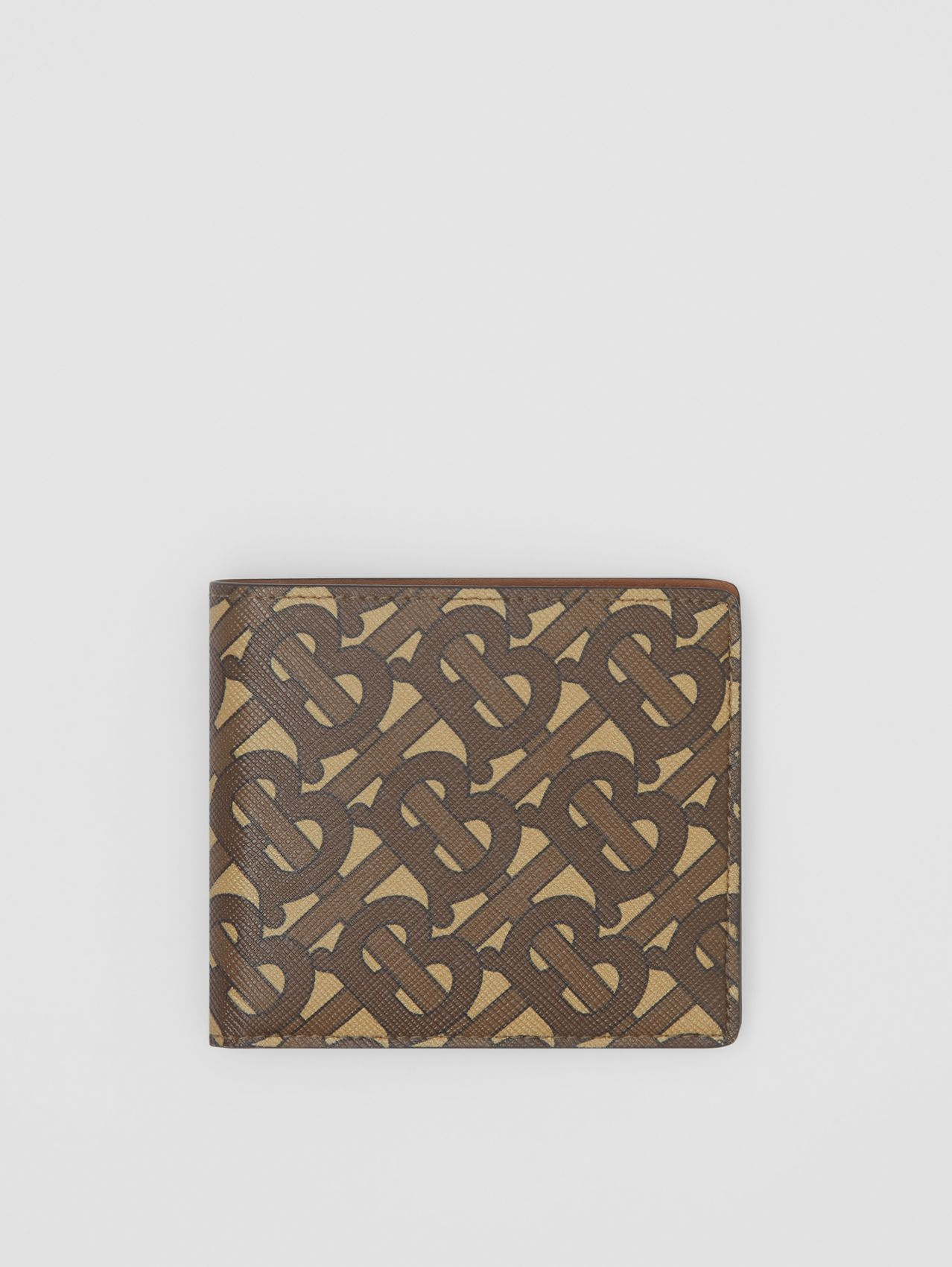 Monogram Print E-canvas International Bifold Wallet in Bridle Brown