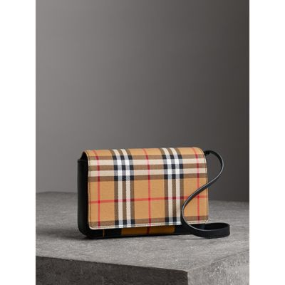 Tartan and Leather Wallet with Detachable Strap - Yellow & Orange Burberry tvhywb6j
