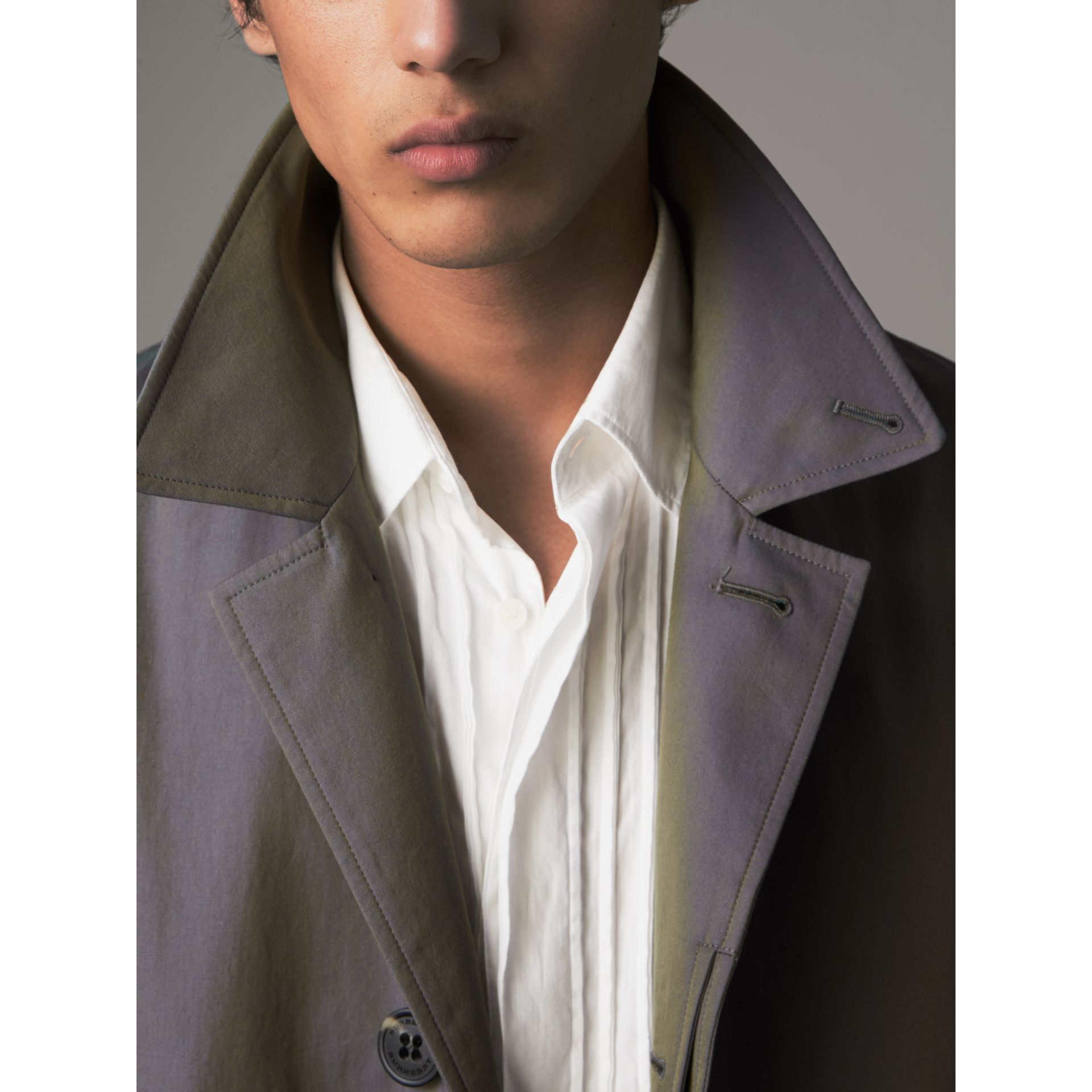 Tropical Gabardine Car Coat in Storm Blue - Men | Burberry Singapore - gallery image 2