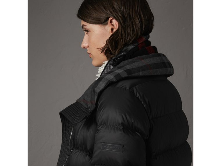Detachable Hooded Down-filled Puffer Coat in Black - Women | Burberry United States - cell image 4