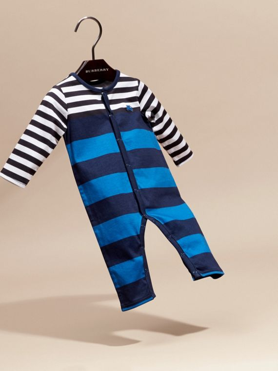 Ink blue Striped Cotton All-in-one - cell image 2