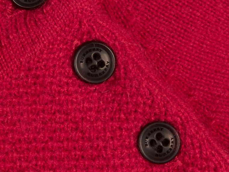 Check Detail Cashmere Dress in Parade Red - Girl | Burberry - cell image 2