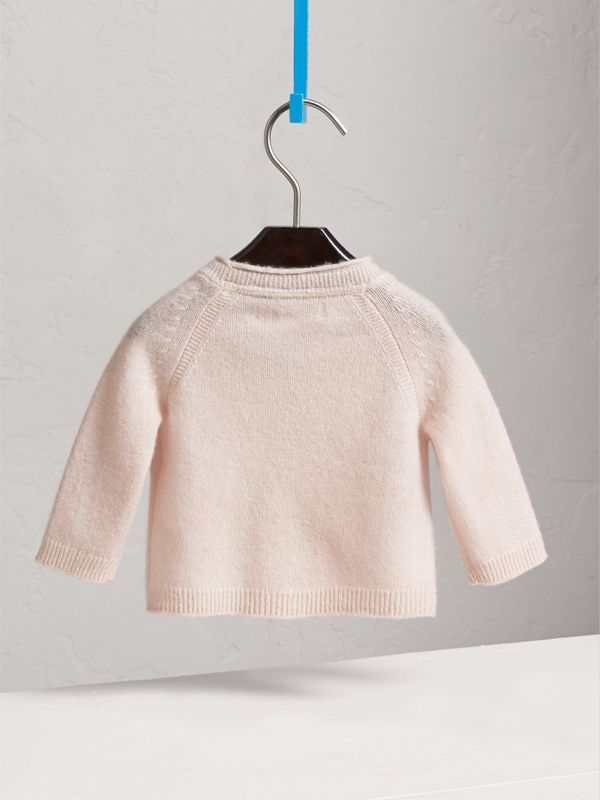 Classic Cashmere Cardigan in Powder Pink | Burberry - cell image 3