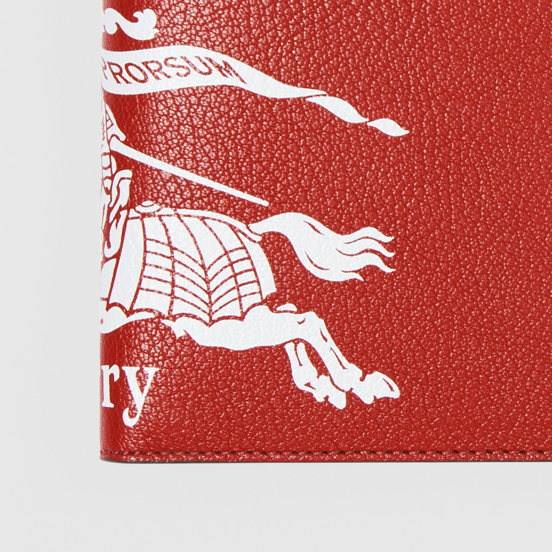 Contrast Logo Leather International Bifold Wallet in Rust Red/black - Men | Burberry Singapore - gallery image 1