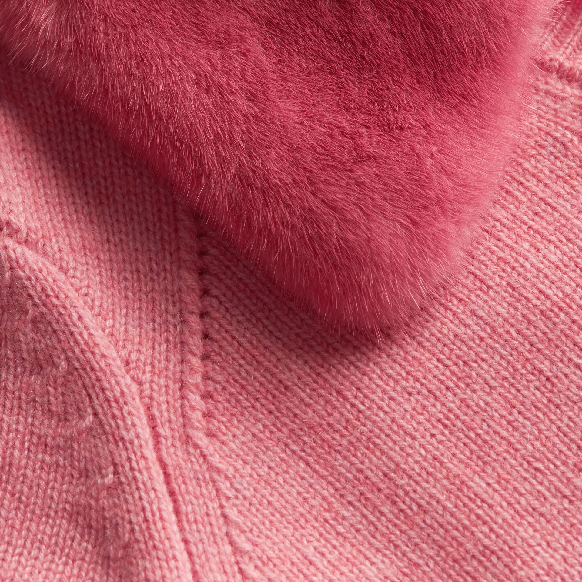 Mink Collar Cashmere Cardigan - gallery image 2