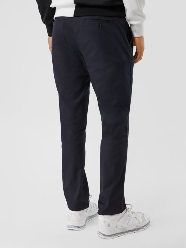 Slim Fit Cotton Chinos in Navy - Men | Burberry Hong Kong S.A.R - cell image 2
