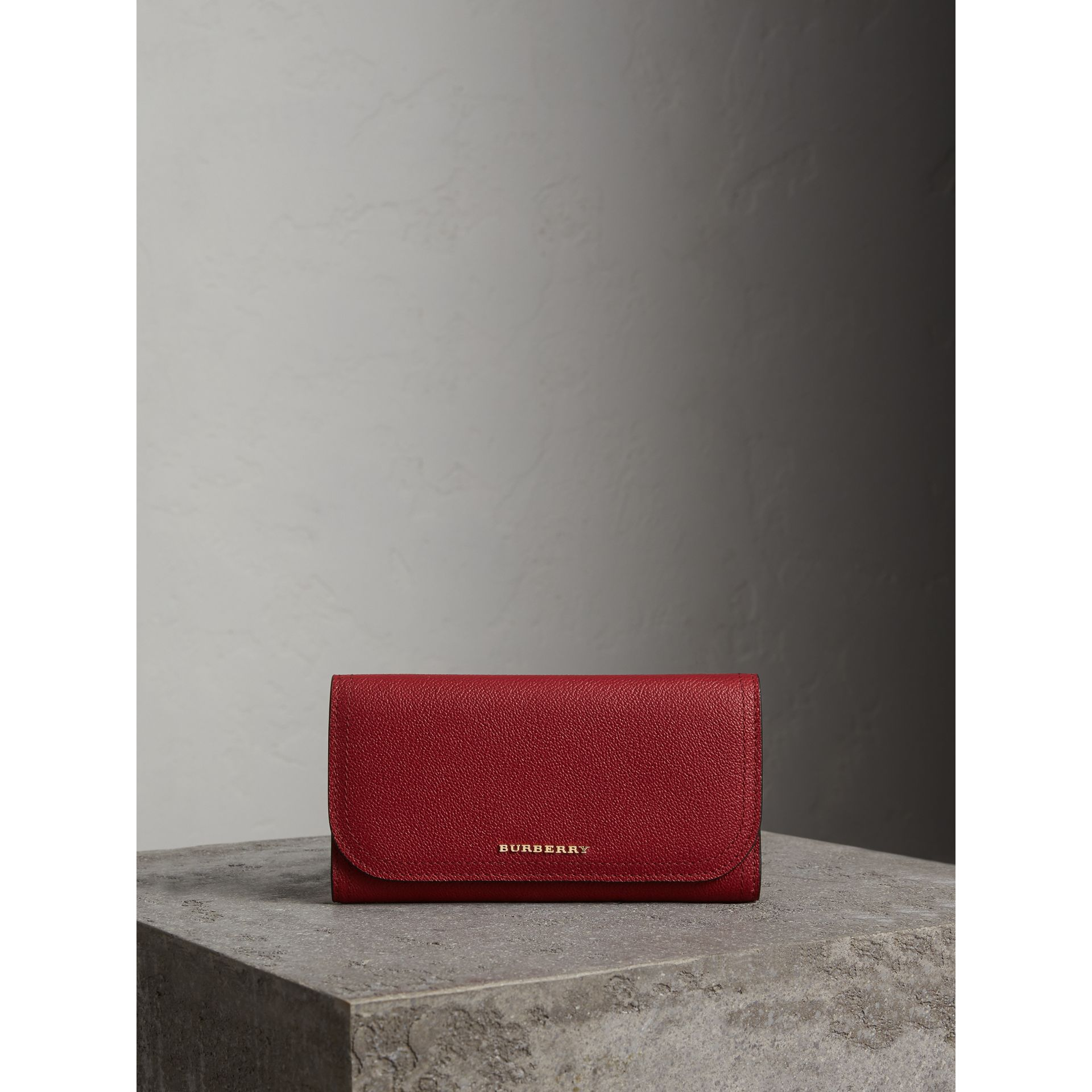 Leather Continental Wallet with Removable Coin Case in Parade Red - Women | Burberry Singapore - gallery image 6