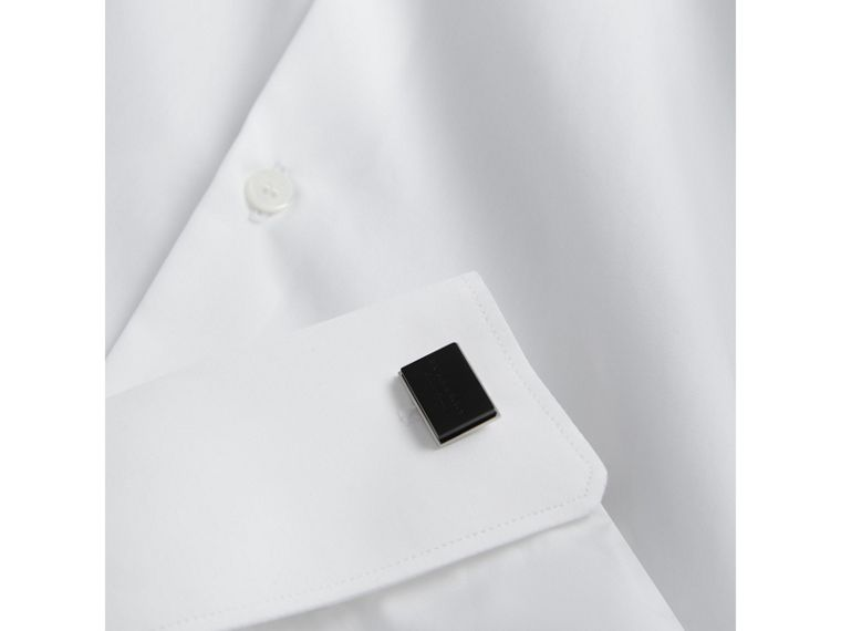 Engraved Enamel Cufflinks in Black - Men | Burberry - cell image 2