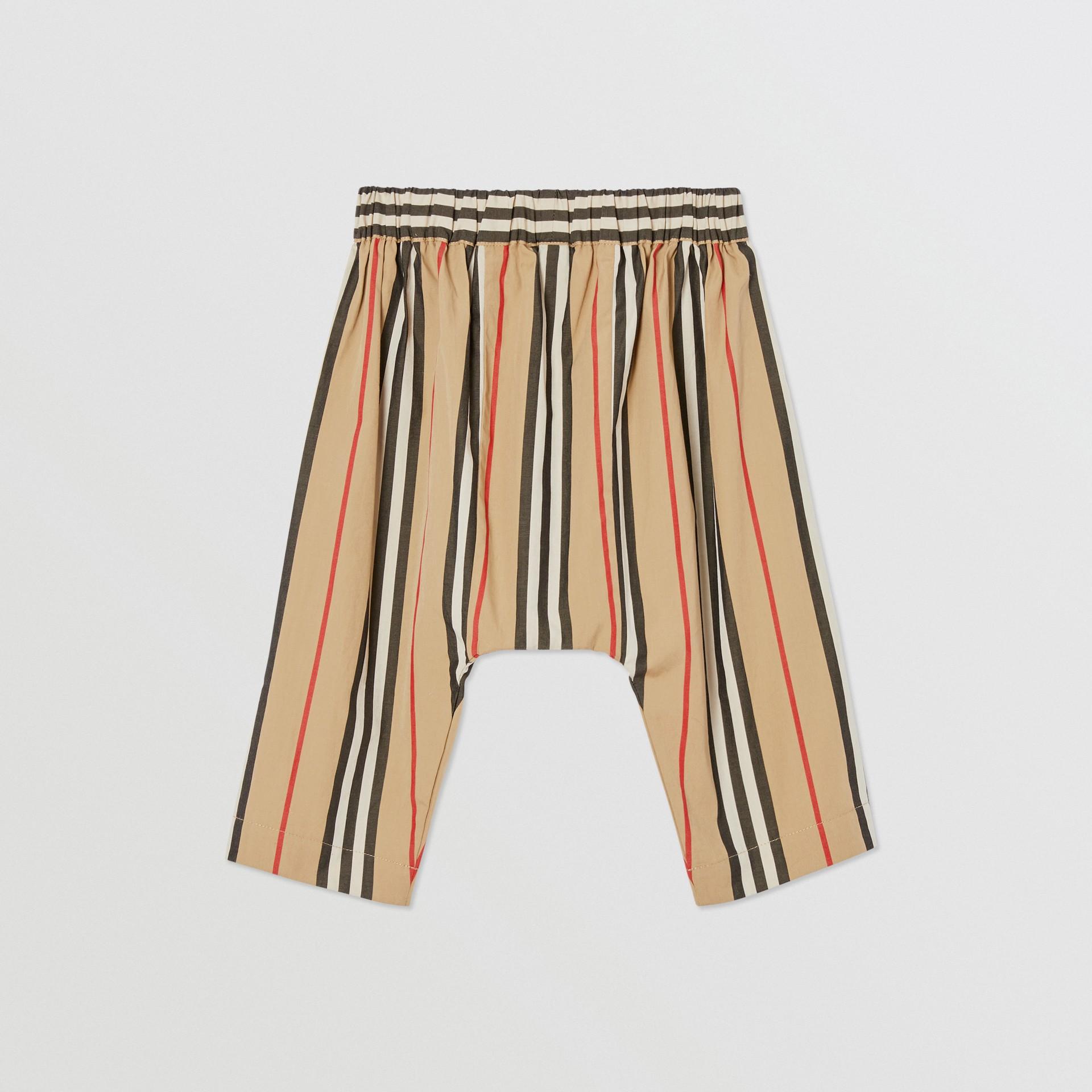 Pantalon en popeline de coton à rayures iconiques (Beige D'archive) - Enfant | Burberry Canada - photo de la galerie 4